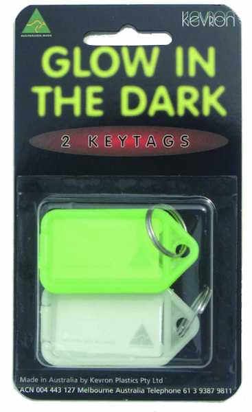 KEVRON ID43PP2 Glow In The Dark Click Tag - 2pk